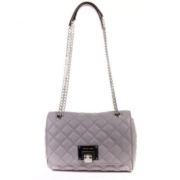 003b056b5d1d Michael Kors Vivianne quilted pearl grey handbag. M_5ad778ec2ab8c572338bceb3